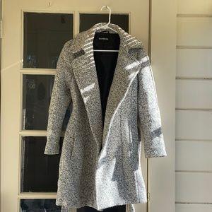 Static Grey Peacoat Jacket